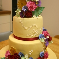 50Th Birthday Country Garden Cake