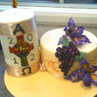 Baptism Cake The lady being baptised was Croatian so I added the Irises as their national flower. The paschal candle design is the same as was used by...