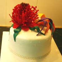 Waratah Cake This was a welcome cake for some overseas visitors. The Waratah is the state flower of New South Wales and since they were visiting Sydney...