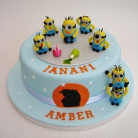 2Nd Minion Cake Minion's from Despicable Me film. I loved making my first cake, then got a request for bride and groom Minion wedding toppers then a...