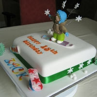 Snowboarder 18Th Birthday Cake