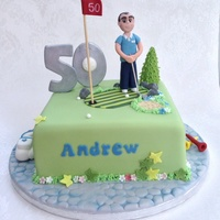 Golf Birthday Cake Another version of my golfing cake.