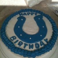 Colts Cake colts birthday cake strawberry with strawberry cream cheese filling all buttercream.