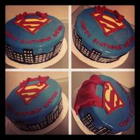 Superman Superman birthday cake
