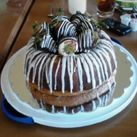 Rum Cake   Rum Cake with Chocolate Covered Strawberries