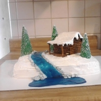 Winter Cabin Cake for my parents anniversary