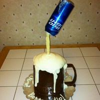 Beer Mug Cake, Bud Light