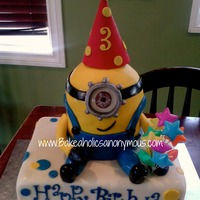 Minion Birthday Cake minion birthday cake , I love this festive cake !!!