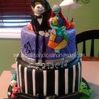 Jack Skellington Cake everything is edible and handmade, this cake took so long to make, I hope you all like it :)