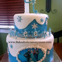 Disney Frozen Birthday Cake Frozen birthday cake everything is edible :)