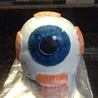 Eye Ball Cake 3 D Eye Ball made of pecan cake and chocolate/ almond butter creme