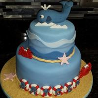Ocean Themed Baby Shower Cake Ocean Themed Baby Shower Cake