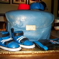 Diaper Bag Cake My first diaper bag cake and sneakers... Thanks for looking