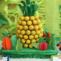 Hawaiian Luau Cake Pop Pinapple Hawaiian Luau Cake Pop Pinapple