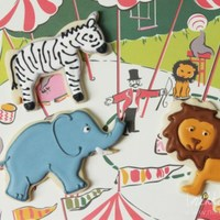 Lion, Zebra & Elephant Cookies Lion, Zebra & Elephant Cookies