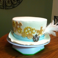 Steampunk Top Hat   All buttercream covered with gumpaste accents.