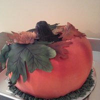 "Experiment Pumpkin Best Hubby Ever Bought Me An Airbrush As A Gift This Was My First Attemp Swiss Meringue Bc With Fondant Leaves ""Experiment"" pumpkin.... best hubby ever bought me an airbrush as a gift... this was my first attemp. Swiss Meringue BC with..."