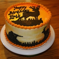 Deer Sillouette Last minute call for a cake for a 13-year-old birthday boy who loves hunting. Thanks to Cake Central inspiration, I was able to give him...