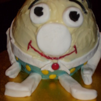 Humpty Cake   this is my first cake that was ordered for a one year olds birthday