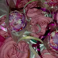 Rose Cup Cakes And Cake Pop Bouquet   this is one of my first bouquets