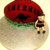 My First Footy Cake   my first footy cake