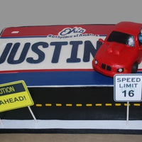 16Th Birthday Cake Car And Driving Themed Car Made From Rkts Photo And Signs Were Printed Ohio Logo Hand Painted All Other Decorations 16th birthday cake, car and driving-themed. Car made from RKTs, photo and signs were printed, Ohio logo hand-painted, all other decorations...