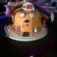 Adventure Time Cake Jake the dog covered in MMF.