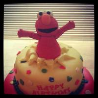 3D Elmo Surprise Cake Elmo hadmade from gumpaste
