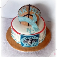 Carolina Tar Heels Basketball Cake