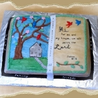 Bible Book Cake-Joshua 24:15