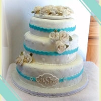 Malibu Blue Wedding Cake