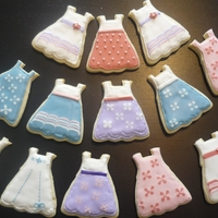 Dress Cookies Dress cookies made for an American Doll party.