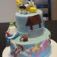 A Nursery Rhyme Cake For A Baby Shower A nursery rhyme cake for a baby shower