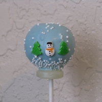 Snow Globe Cake Pop Hot chocolate flavored cake pop...design I think is from Rachel505 =)Thanks CC for all the wonderful ideas!