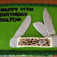 Case Knife Cake Made case knife out of fondant for birthday