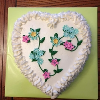 Heart Floral Cake Fondant and gum paste flowers