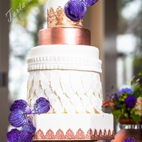 Wedding Style Purple Copper And White