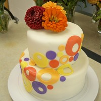 Contemporary Anniversary Cake