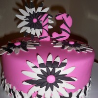 Happy 13Th Pink Zebra Cake