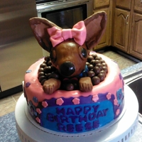 Chihuahua For Reese   I made this chihuahua cake for my great-niece's birthday. This was my first time making a dog cake