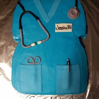 Scrub Cake For Nursing Grad   Buttercream with MMF accents.