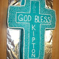 Cross Baptism Cake   Cross baptism chocolate cake with chocolate buttercream filling.