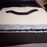 Millipede Cake Giant millipede with oodles of little guys around the bottom.