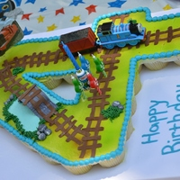 Thomas The Train Pull Apart Cupcake Cake Giant #4 Thomas the Train cupcake cake.