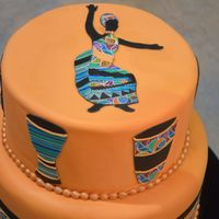 African Folk Art Themed Cake Made Of The Icing Images Category At The National Capital Area Cake Show   African Folk art themed cake made of the Icing Images category at the National Capital Area Cake Show.
