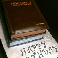 Kings James Bible 2 stack bible cake lemon flavor