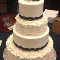 4 Tier Wedding Cake 14 10 8 6 Chocolate With Cookies N Cream Filling And Buttercream Frosting Handmade Fondant Ku Jayhawk Bride Am 4 Tier wedding cake (14, 10, 8, 6) - Chocolate with cookies n' cream filling and buttercream frosting. Handmade fondant KU Jayhawk...