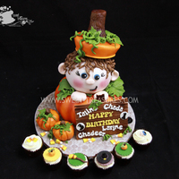 Holiday Cakes Halloween Invitation Inspired:D Everything all handmade...from ganaching to airbrushing...all the way t the little details. This was a...