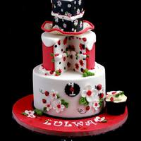 Ladybug Love *I had so much fun making this cake:) It's such a fun and whimsical cake I didn't even feel the time spent on it:) Yet again, I...