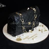 Chanel Inspired Purse Cake *Chanel inspired purse cake